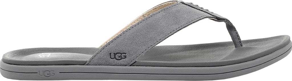Men's UGG Brookside Flip Flop, Metal Cow Suede, large, image 1