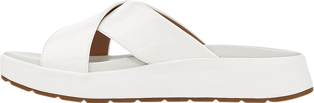 Women's UGG Emily Cross Strap Slide, White Synthetic Patent Leather, large, image 3