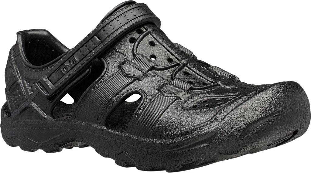 Children's Teva Omnium Drift Closed Toe Sandal - Little Kid, Black Synthetic, large, image 1