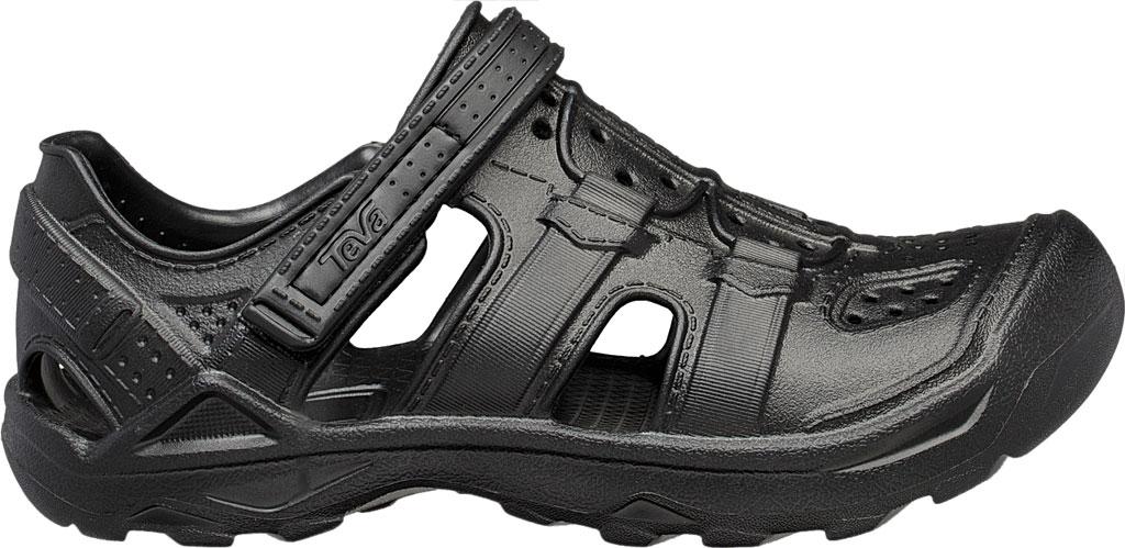 Children's Teva Omnium Drift Closed Toe Sandal - Little Kid, Black Synthetic, large, image 2