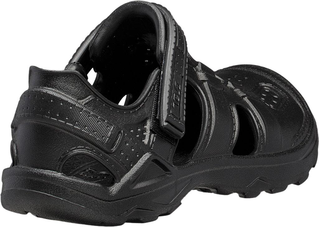 Children's Teva Omnium Drift Closed Toe Sandal - Little Kid, Black Synthetic, large, image 4