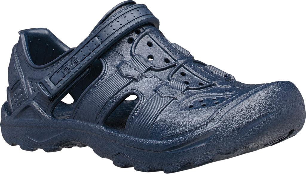 Children's Teva Omnium Drift Closed Toe Sandal - Little Kid, Navy Synthetic, large, image 1