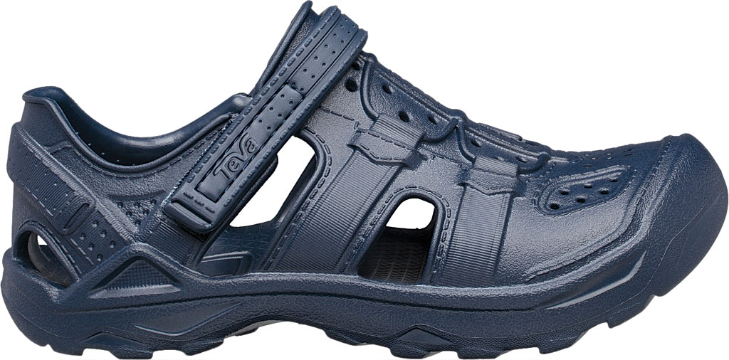 Children's Teva Omnium Drift Closed Toe Sandal - Little Kid, Navy Synthetic, large, image 2