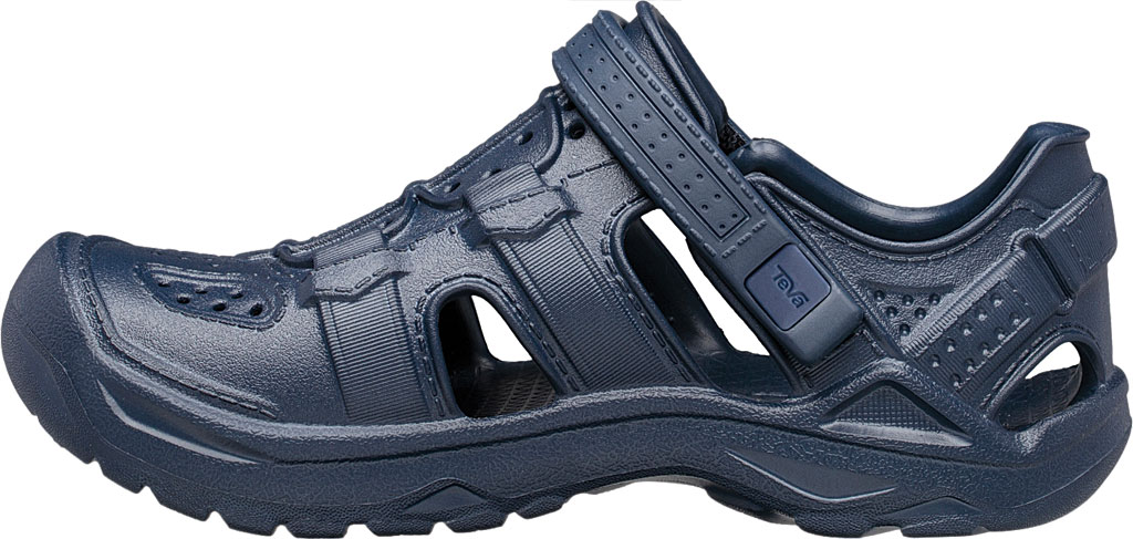 Children's Teva Omnium Drift Closed Toe Sandal - Little Kid, Navy Synthetic, large, image 3