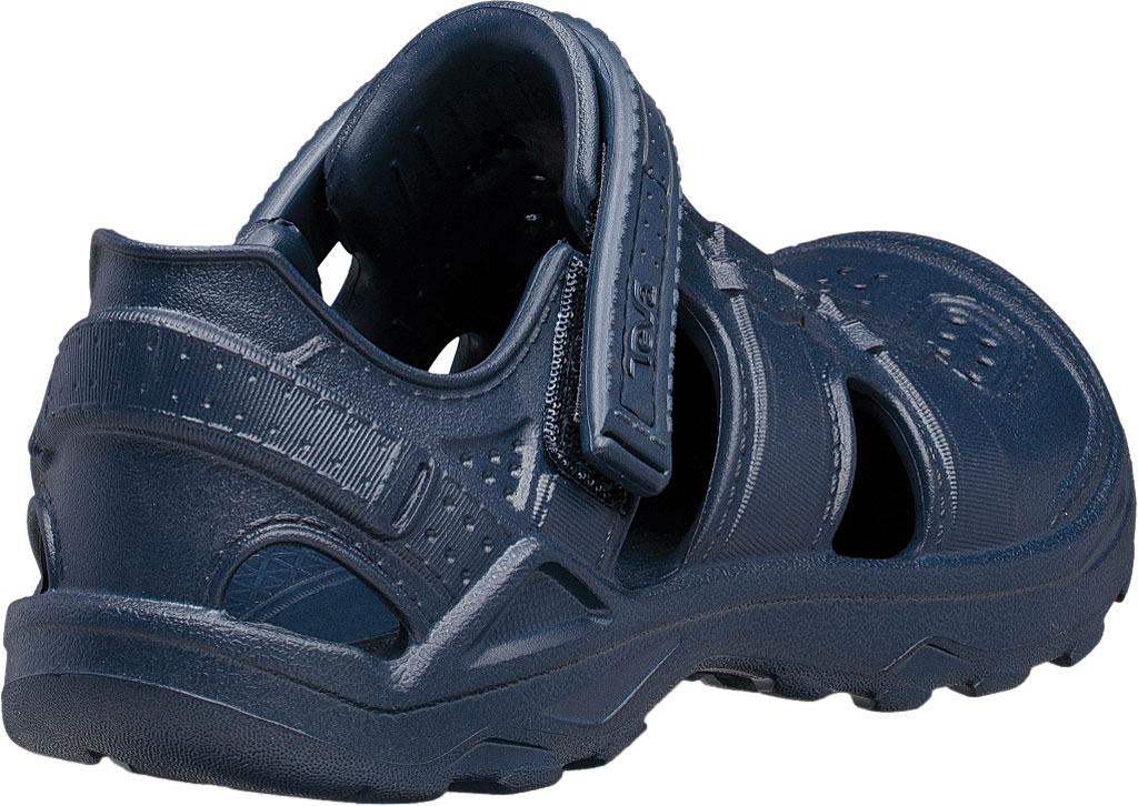Children's Teva Omnium Drift Closed Toe Sandal - Little Kid, Navy Synthetic, large, image 4