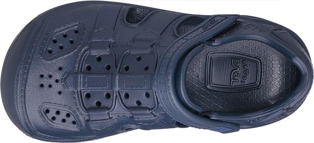 Children's Teva Omnium Drift Closed Toe Sandal - Little Kid, Navy Synthetic, large, image 5