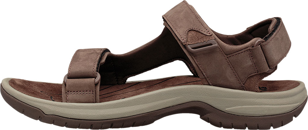 Men's Teva Tanway Leather Sandal, Chocolate Brown Leather, large, image 3