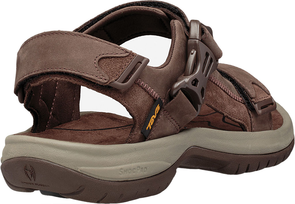 Men's Teva Tanway Leather Sandal, Chocolate Brown Leather, large, image 4