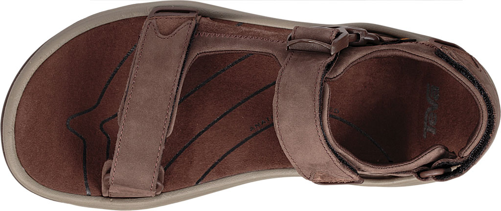 Men's Teva Tanway Leather Sandal, Chocolate Brown Leather, large, image 5