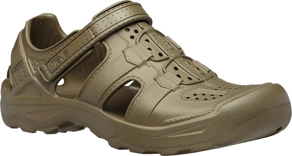 Men's Teva Omnium Drift Closed Toe Sandal, Dark Olive Synthetic, large, image 1