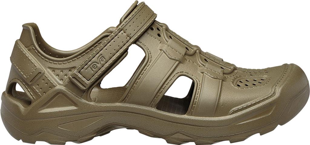 Men's Teva Omnium Drift Closed Toe Sandal, Dark Olive Synthetic, large, image 2