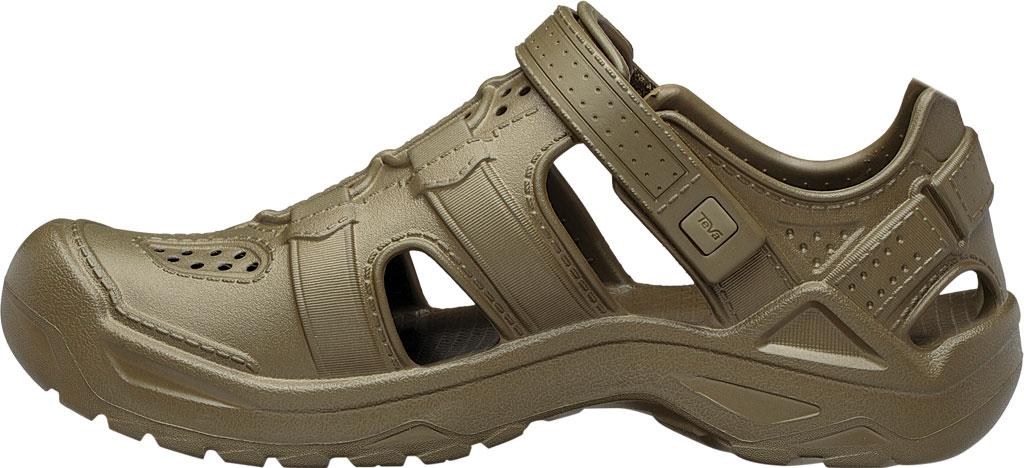 Men's Teva Omnium Drift Closed Toe Sandal, Dark Olive Synthetic, large, image 3
