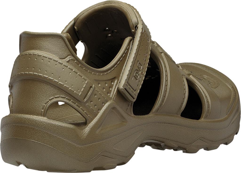 Men's Teva Omnium Drift Closed Toe Sandal, Dark Olive Synthetic, large, image 4