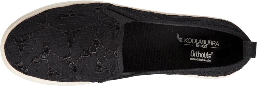 Women's Koolaburra by UGG Amiah Slip On Sneaker, Black Flower Fabric/Grosgrain, large, image 5