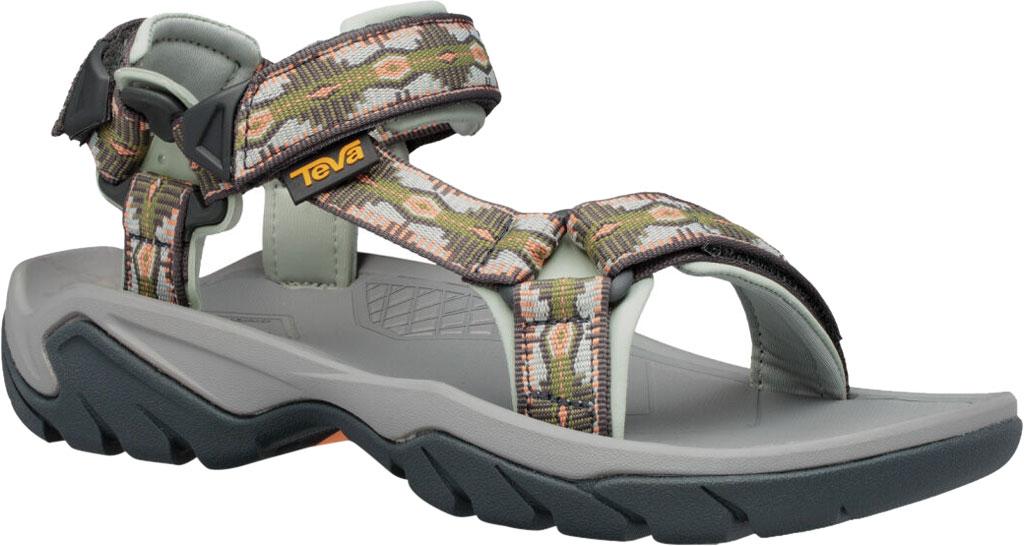 Women's Teva Terra Fi 5 Universal Sport Sandal, Canyon Calliste Green Textile, large, image 1