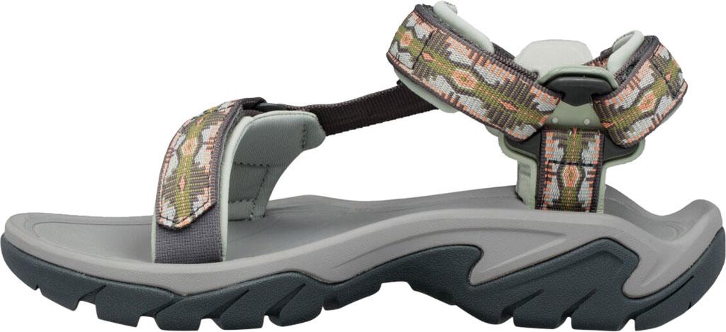 Women's Teva Terra Fi 5 Universal Sport Sandal, Canyon Calliste Green Textile, large, image 3