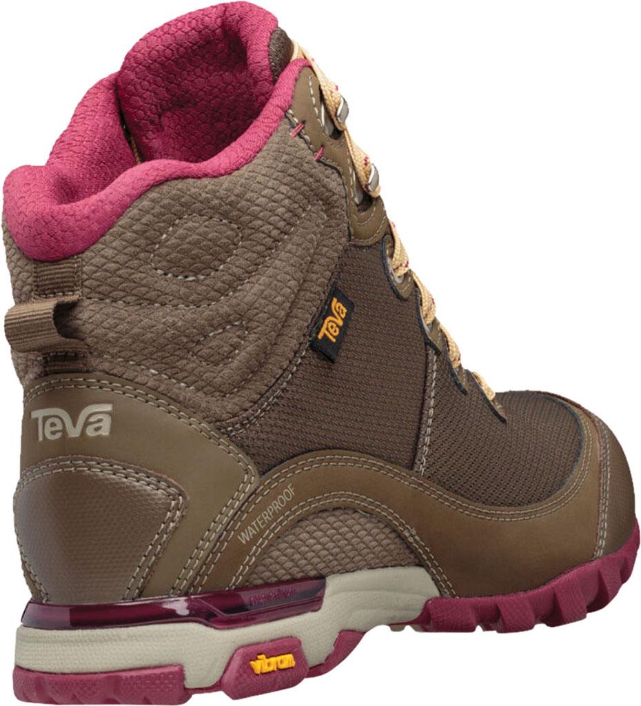 Women's Teva Sugarpine Mid Waterproof Hiking Boot, Chocolate Chip Mesh/Suede, large, image 4