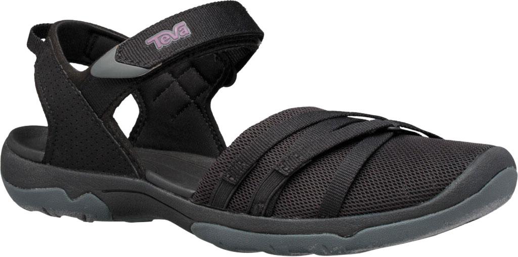Women's Teva Tirra Closed Toe Sandal, Black Mesh, large, image 1