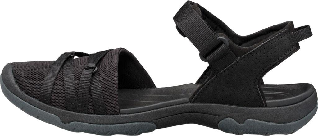 Women's Teva Tirra Closed Toe Sandal, Black Mesh, large, image 3