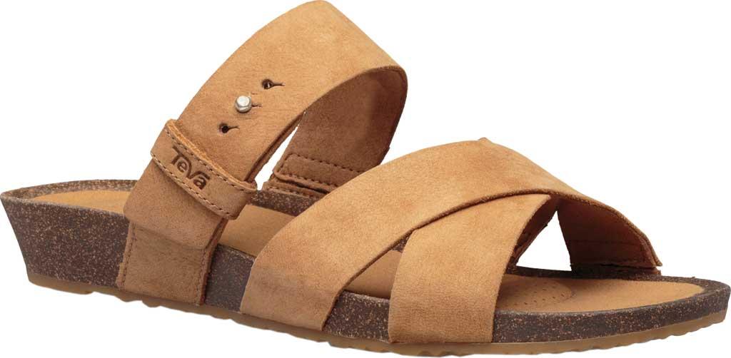 Women's Teva Mahonia Slide, Chipmunk Leather, large, image 1