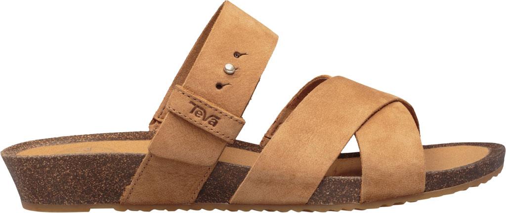 Women's Teva Mahonia Slide, Chipmunk Leather, large, image 2
