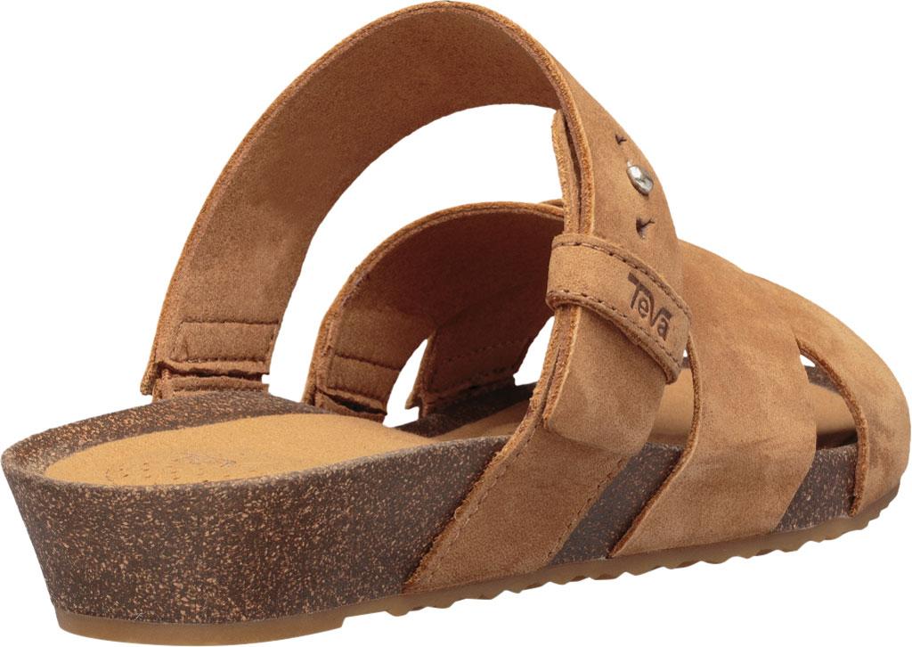 Women's Teva Mahonia Slide, Chipmunk Leather, large, image 4