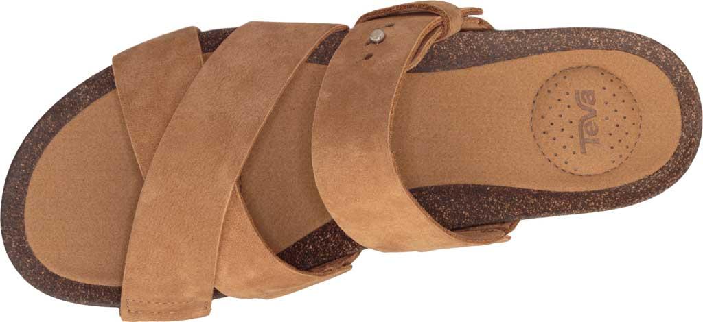 Women's Teva Mahonia Slide, Chipmunk Leather, large, image 5