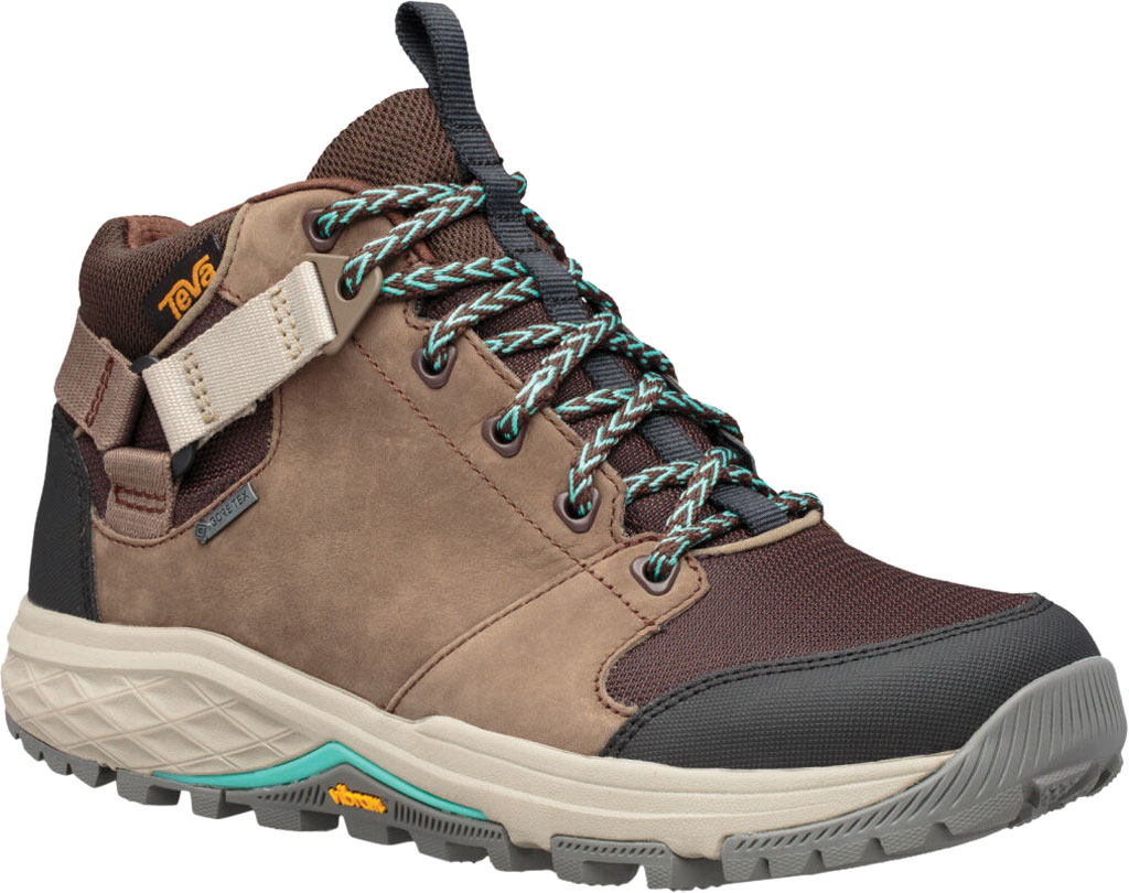 Women's Teva Grandview GTX Waterproof Hiking Boot, Chocolate Chip Leather/Textile, large, image 1