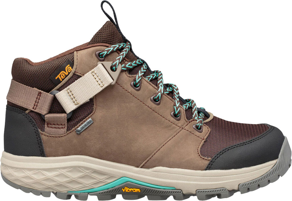 Women's Teva Grandview GTX Waterproof Hiking Boot, Chocolate Chip Leather/Textile, large, image 2