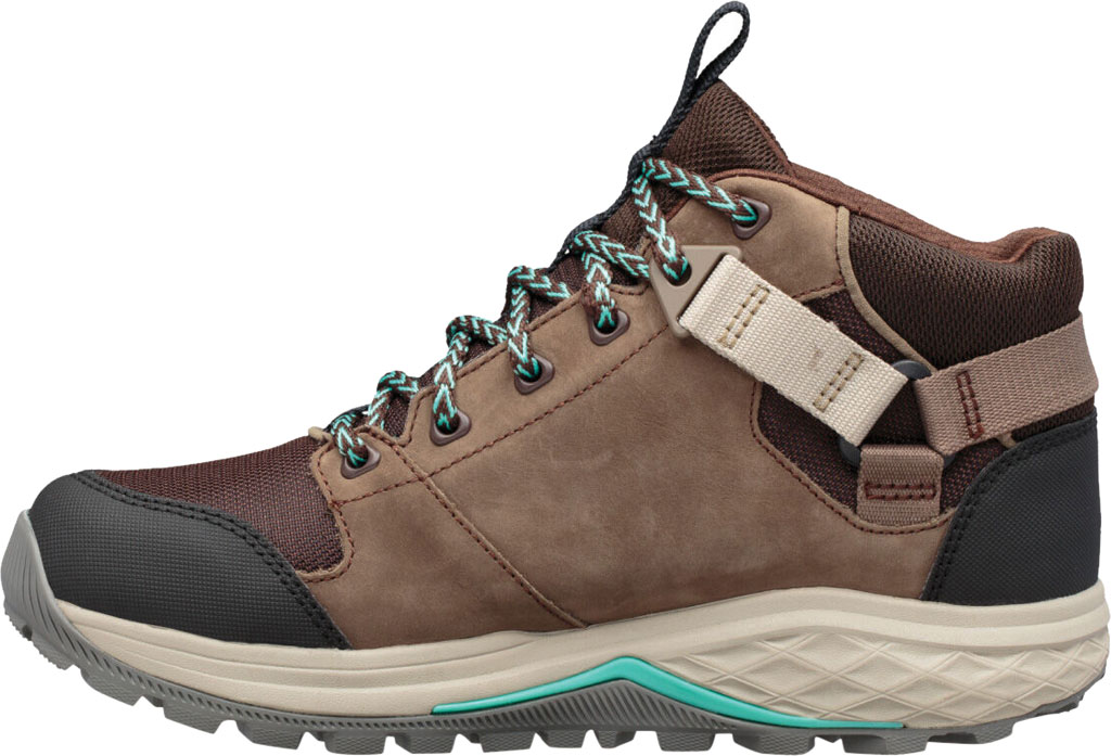 Women's Teva Grandview GTX Waterproof Hiking Boot, Chocolate Chip Leather/Textile, large, image 3