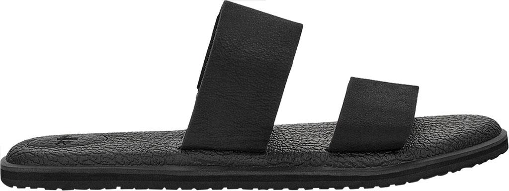 Women's Sanuk Yoga Gora Slide, Black Leather, large, image 2