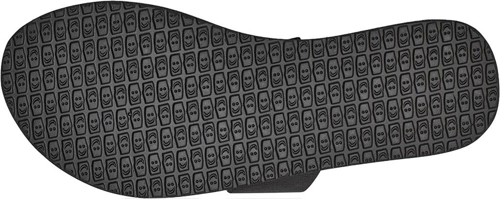 Women's Sanuk Yoga Gora Slide, Black Leather, large, image 6