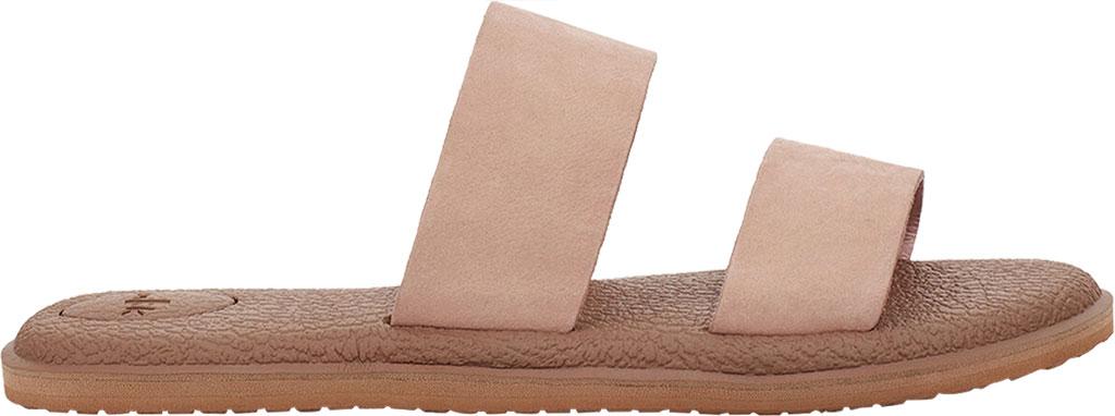 Women's Sanuk Yoga Gora Slide, Rose Smoke Leather, large, image 2