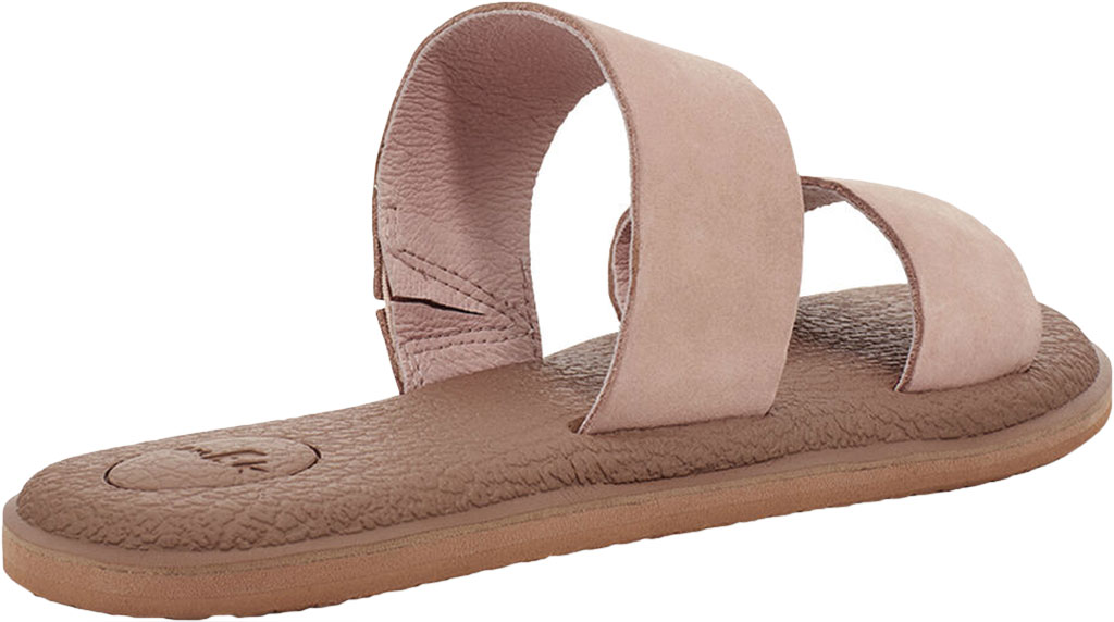 Women's Sanuk Yoga Gora Slide, Rose Smoke Leather, large, image 4