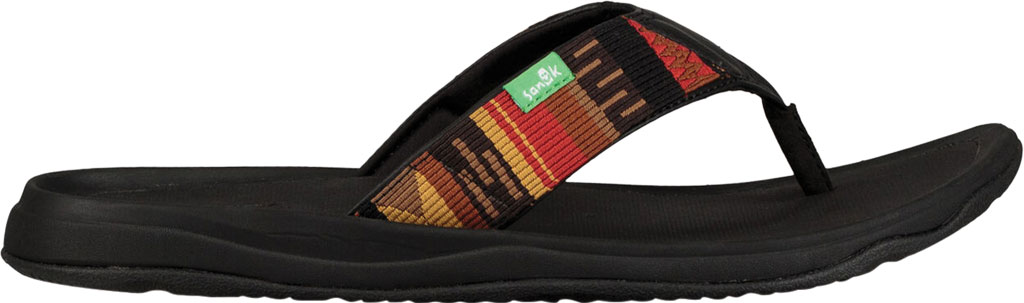 Men's Sanuk Tripper H2O Yeah LX Flip Flop, Black/Blanket Webbing Fabric, large, image 2