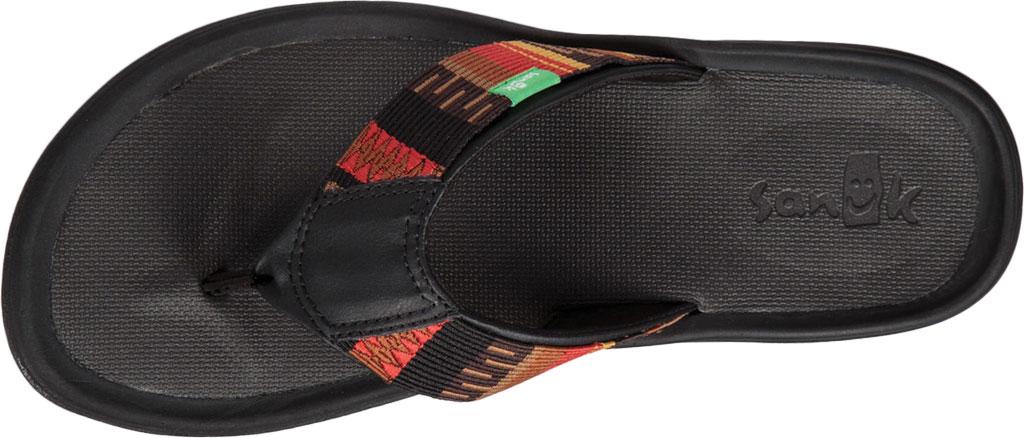 Men's Sanuk Tripper H2O Yeah LX Flip Flop, Black/Blanket Webbing Fabric, large, image 5