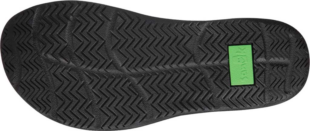 Men's Sanuk Tripper H2O Yeah LX Flip Flop, Black/Blanket Webbing Fabric, large, image 6