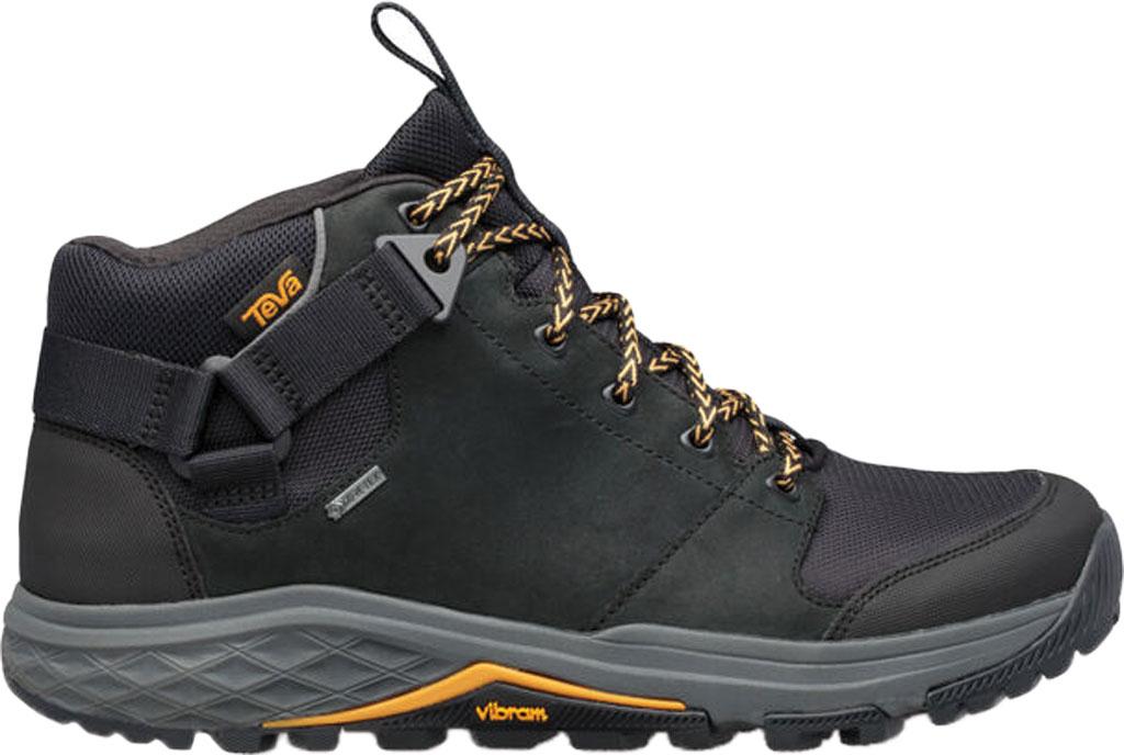 Men's Teva Grandview GTX Waterproof Hiking Boot, Black Leather/Polyester, large, image 2