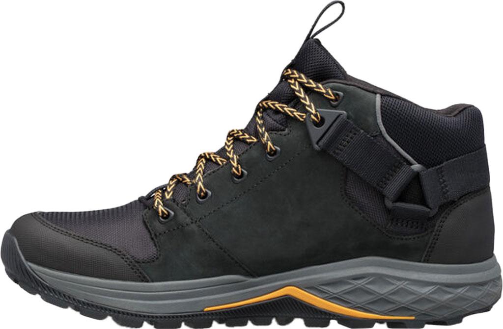 Men's Teva Grandview GTX Waterproof Hiking Boot, Black Leather/Polyester, large, image 3