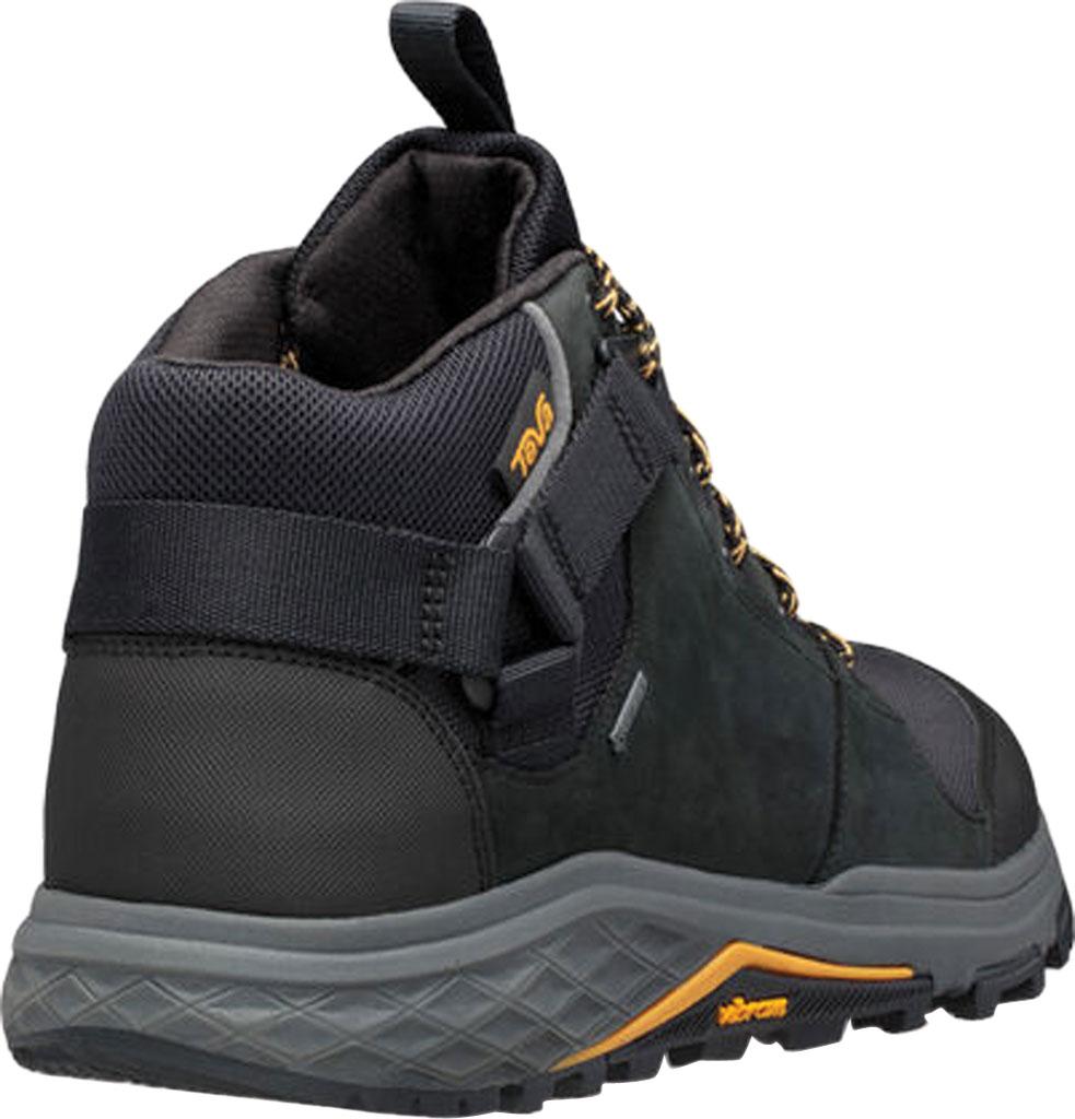 Men's Teva Grandview GTX Waterproof Hiking Boot, Black Leather/Polyester, large, image 4