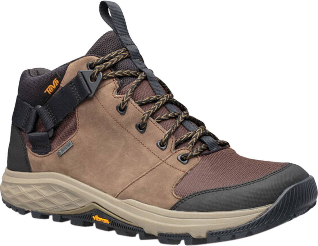 Men's Teva Grandview GTX Waterproof Hiking Boot, Chocolate Chip Leather/Polyester, large, image 1