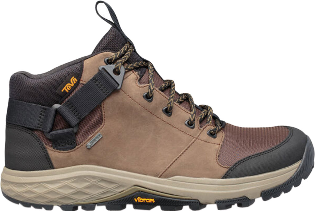 Men's Teva Grandview GTX Waterproof Hiking Boot, Chocolate Chip Leather/Polyester, large, image 2
