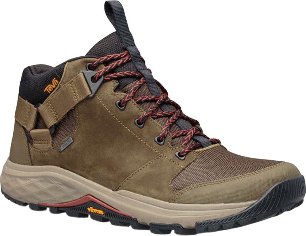 Men's Teva Grandview GTX Waterproof Hiking Boot, Dark Olive Leather/Polyester, large, image 1