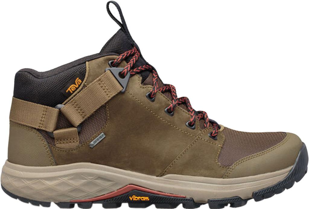 Men's Teva Grandview GTX Waterproof Hiking Boot, Dark Olive Leather/Polyester, large, image 2