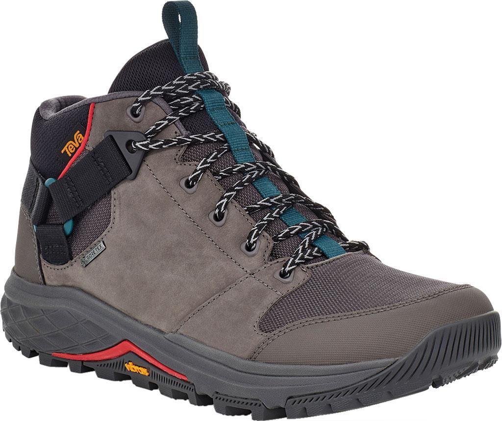 Men's Teva Grandview GTX Waterproof Hiking Boot, Dark Gull Grey Waterproof Leather/Fabric, large, image 1