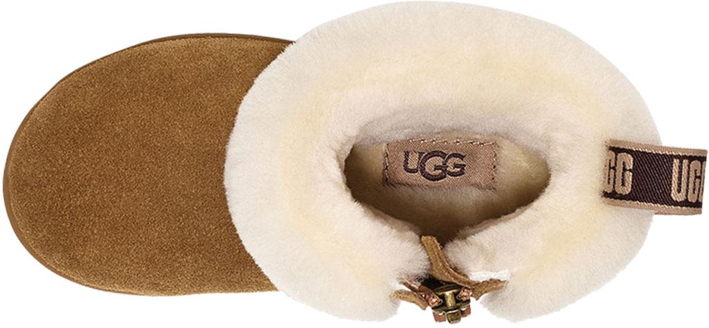Infant UGG Mini Quilted Fluff Bootie - Toddler, Chestnut Sheepskin, large, image 4