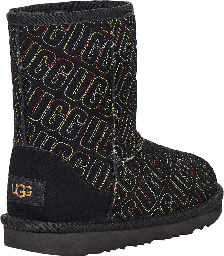Infant UGG Classic II Graphic Stitch Bootie - Toddler, Black Cow Suede, large, image 4