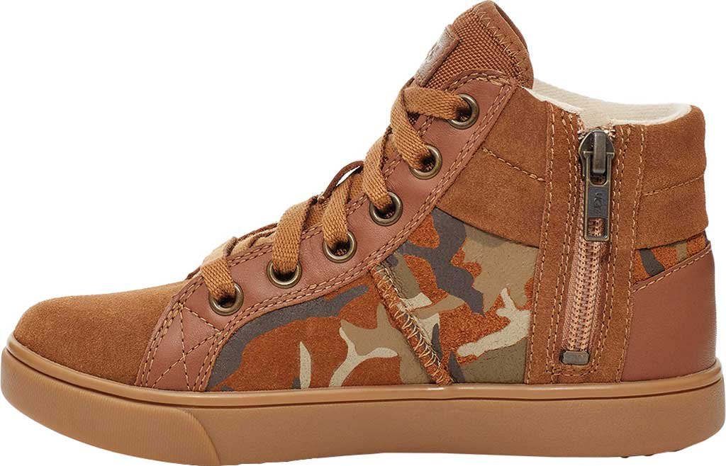 Children's UGG Boscoe Camo High Top Sneaker, Brown Camo Suede, large, image 3