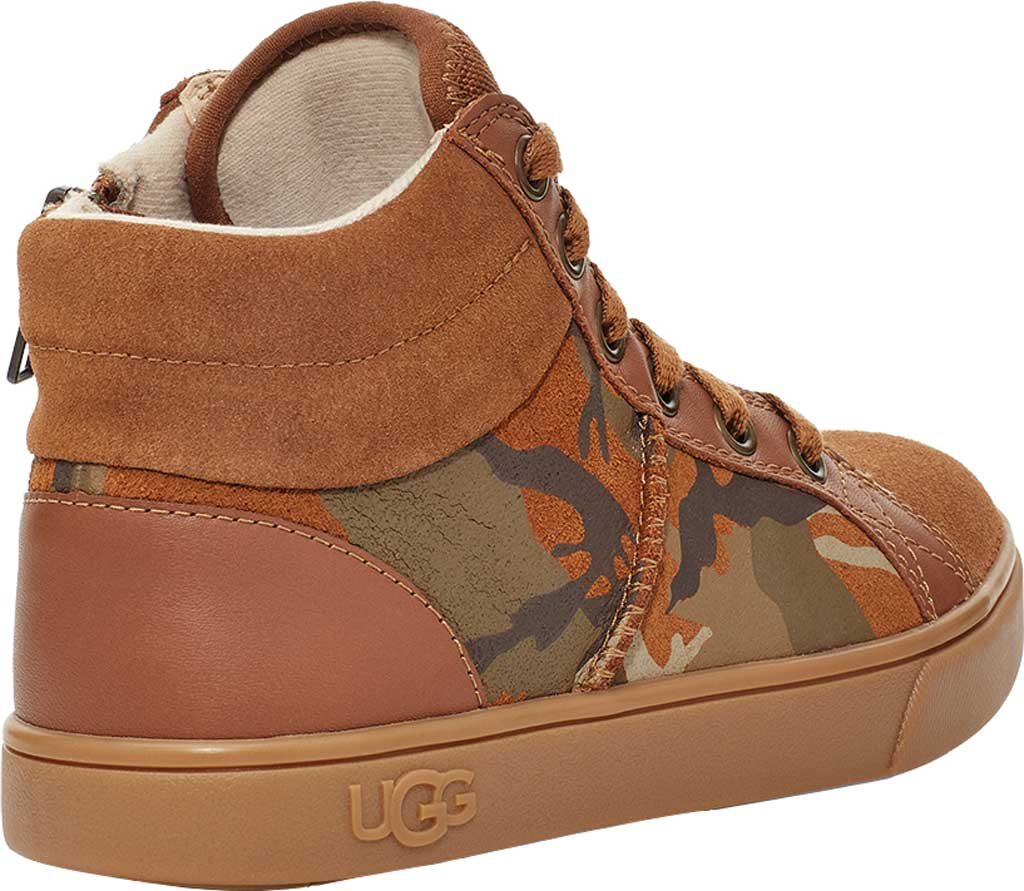 Children's UGG Boscoe Camo High Top Sneaker, Brown Camo Suede, large, image 4