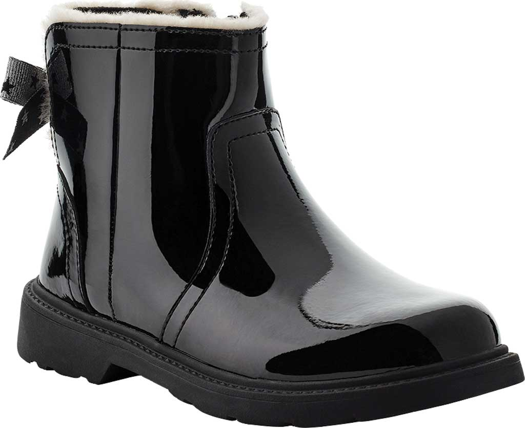 Children's UGG Lynde Patent Bootie, Black Cow Patent Leather, large, image 1